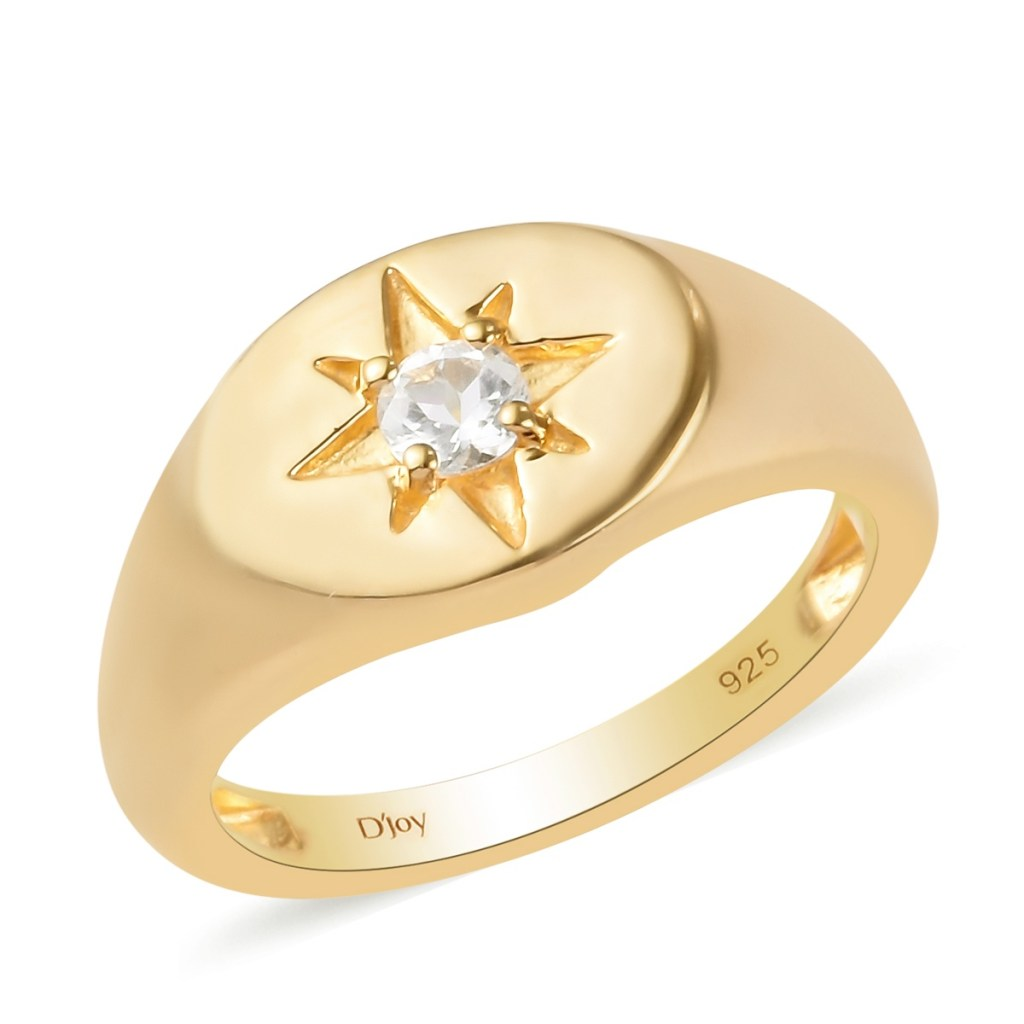 Topaz men's ring in gold.
