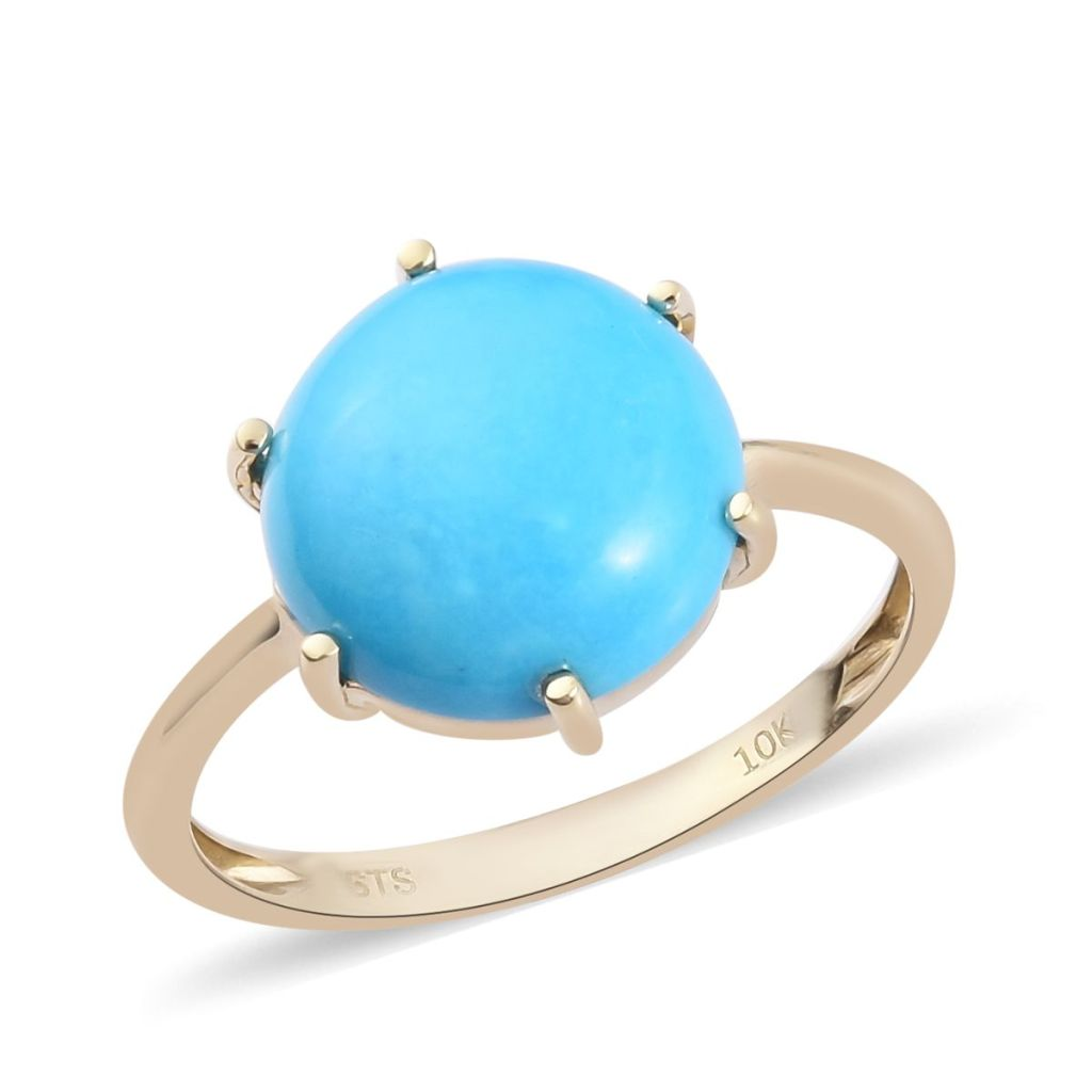 Turquoise solitaire ring.