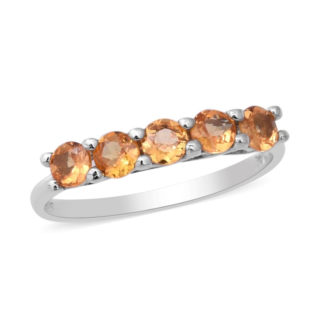 Spessartine five stone ring.