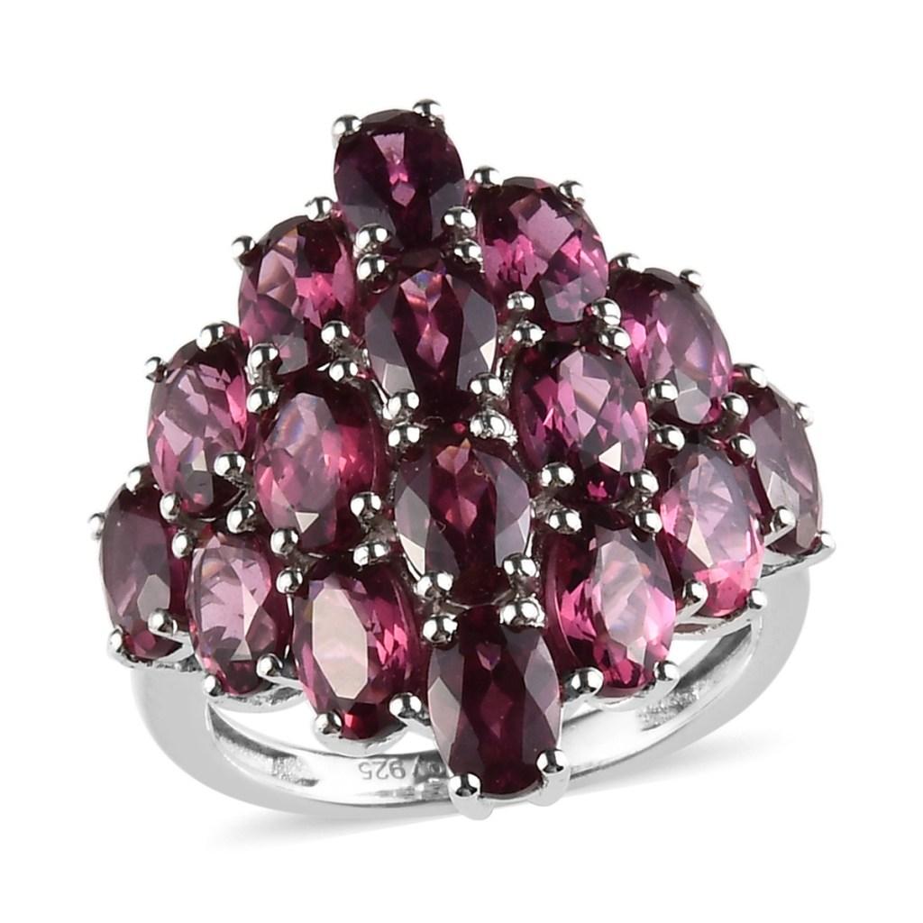 Raspberry rhodolite ring.
