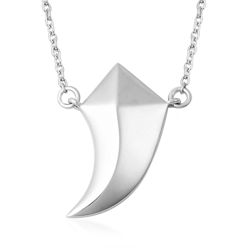 Sterling silver wolf tooth necklace for men.