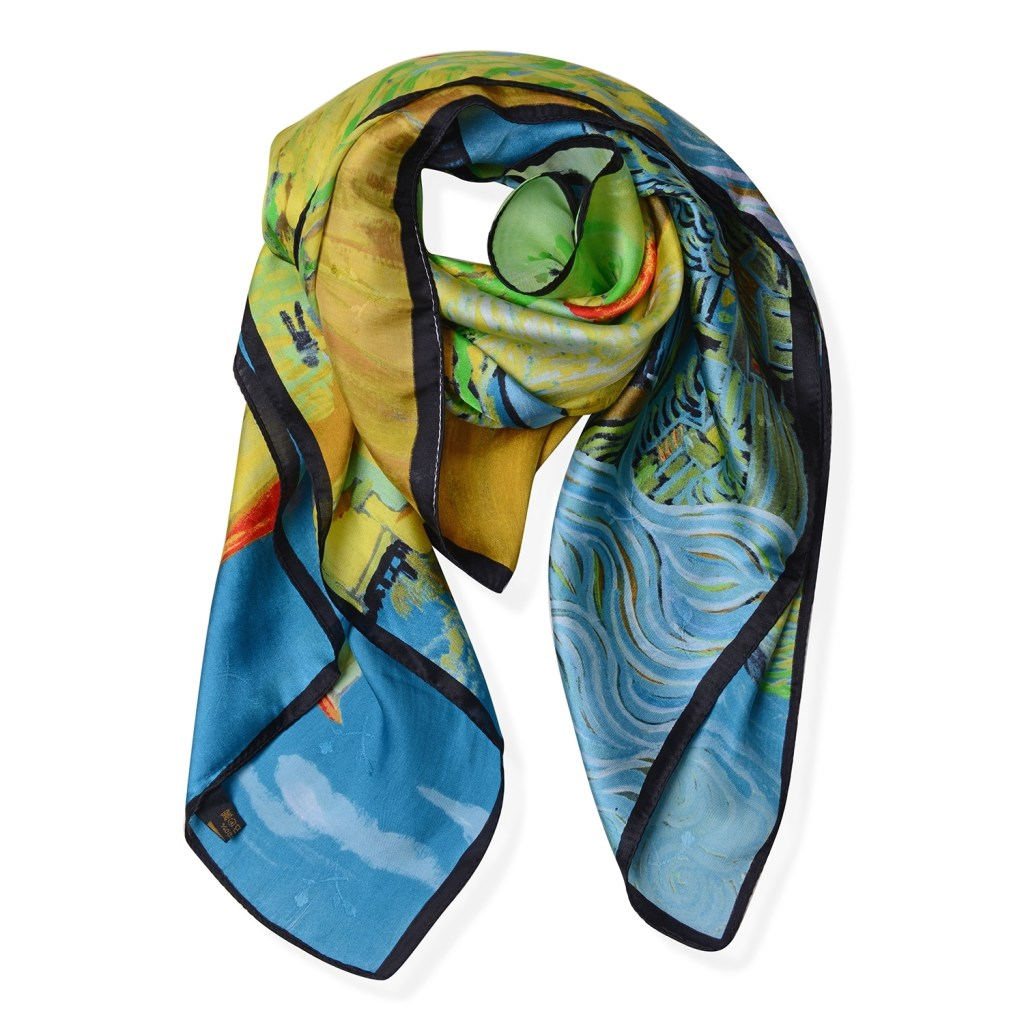 Van Gogh print scarf.
