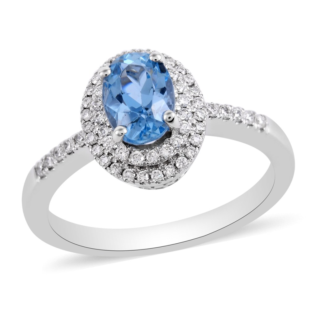 Blue ring with double halo.