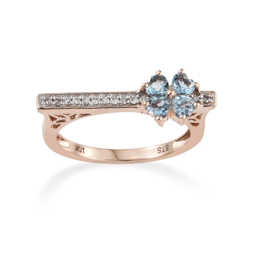 Minimalist ring with blue gemstones.