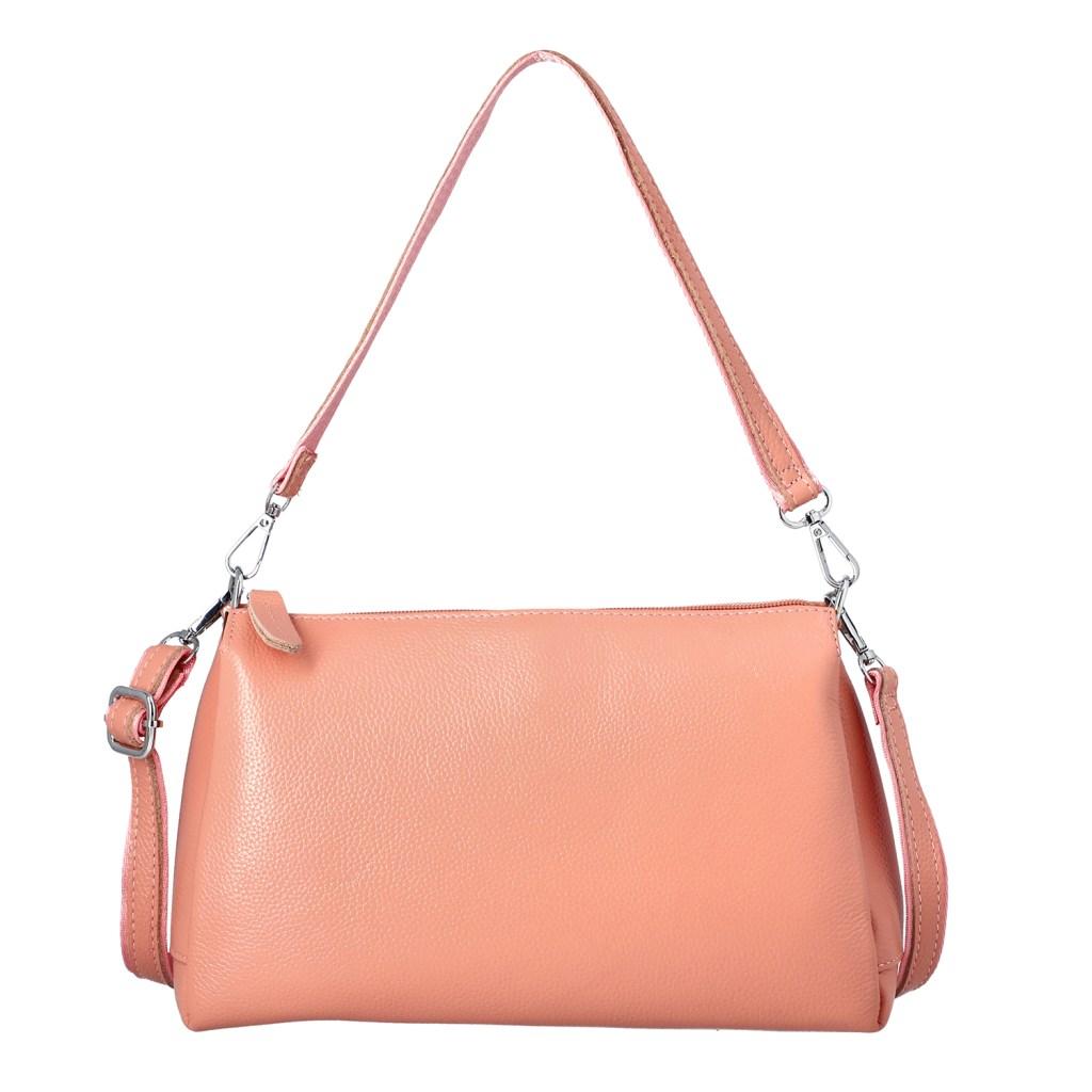 Pink crossbody bag.