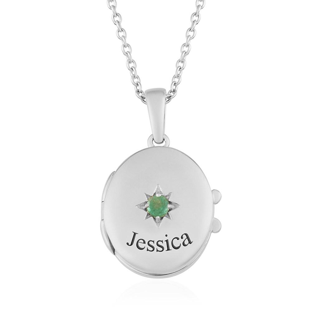 Sterling silver locket pendant.