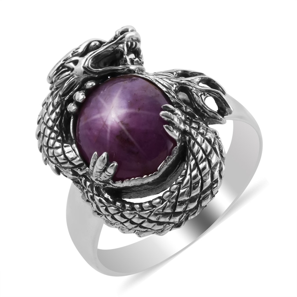 Sterling silver dragon ring.