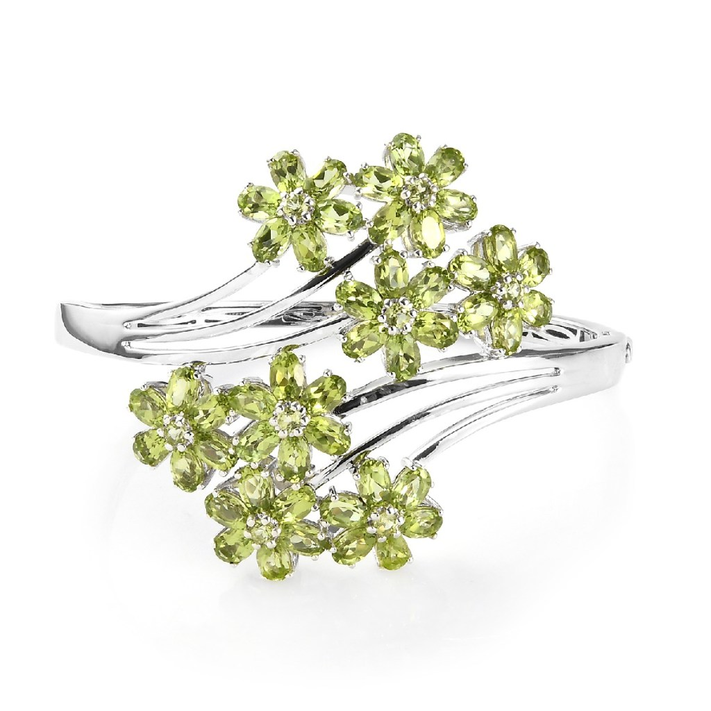 arizona peridot floral bracelet