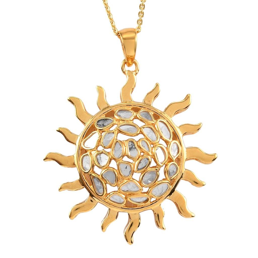 Giuseppe Perez celestial sun pendant.
