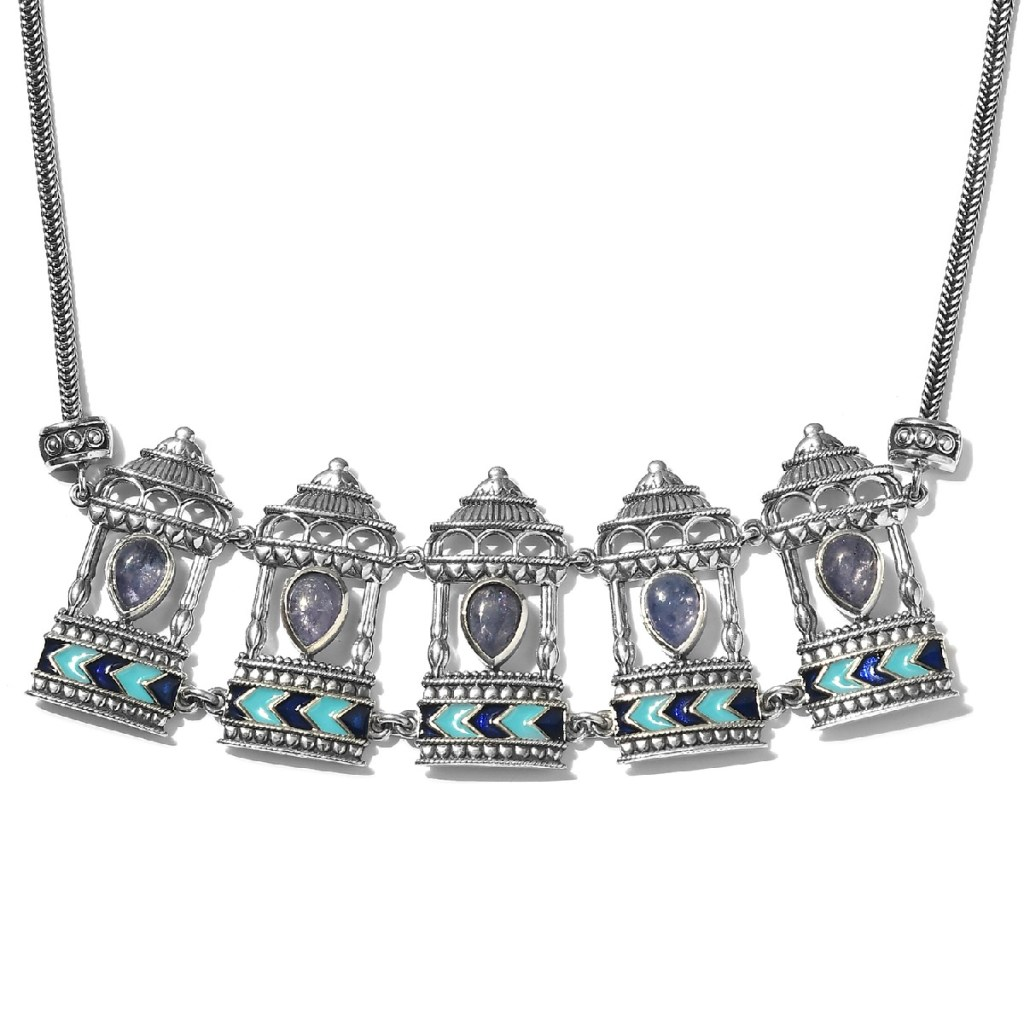 India Artistry pendant in sterling silver with tanzanite.