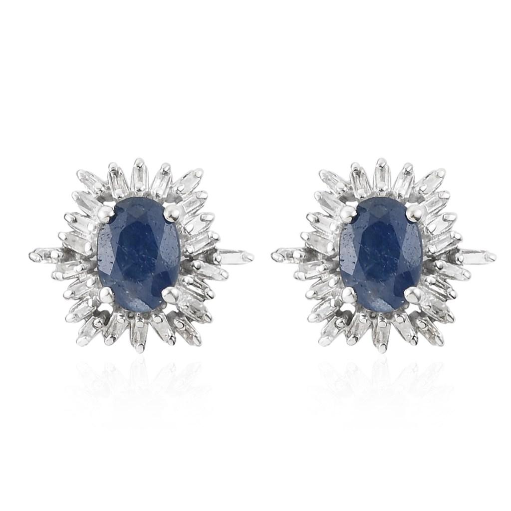 Sapphire halo stud earrings.
