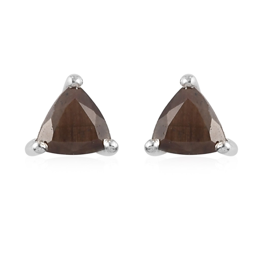 Chocolate sapphire stud earrings.