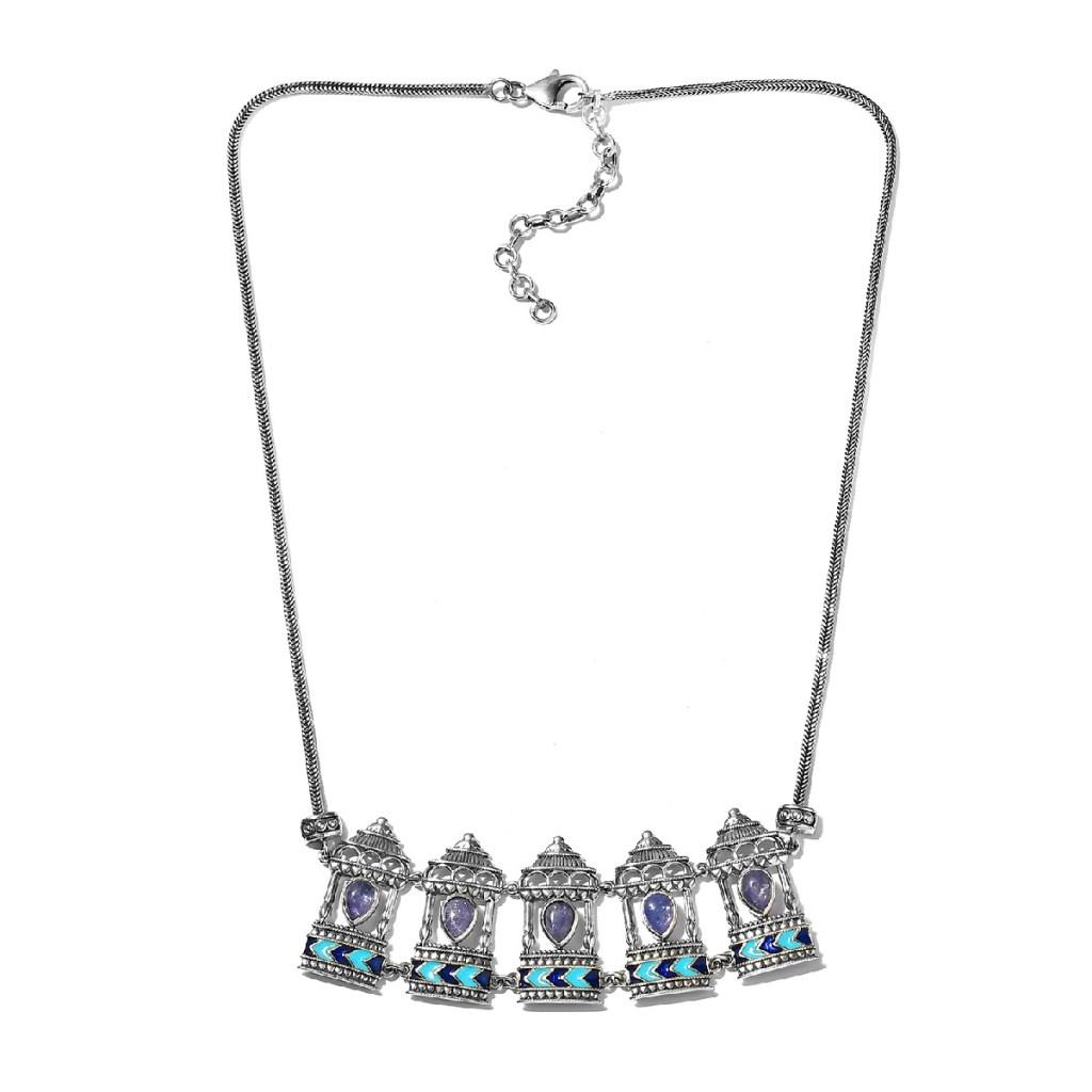 Indian tanzanite necklace.
