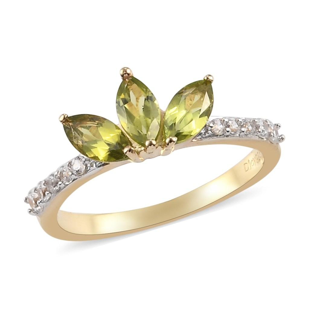 Green petal ring.