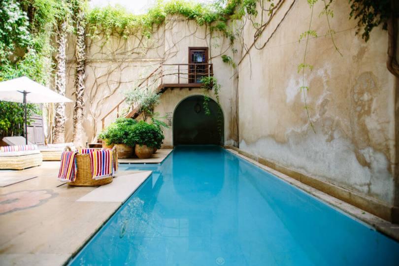 Casa rural individual con piscina.