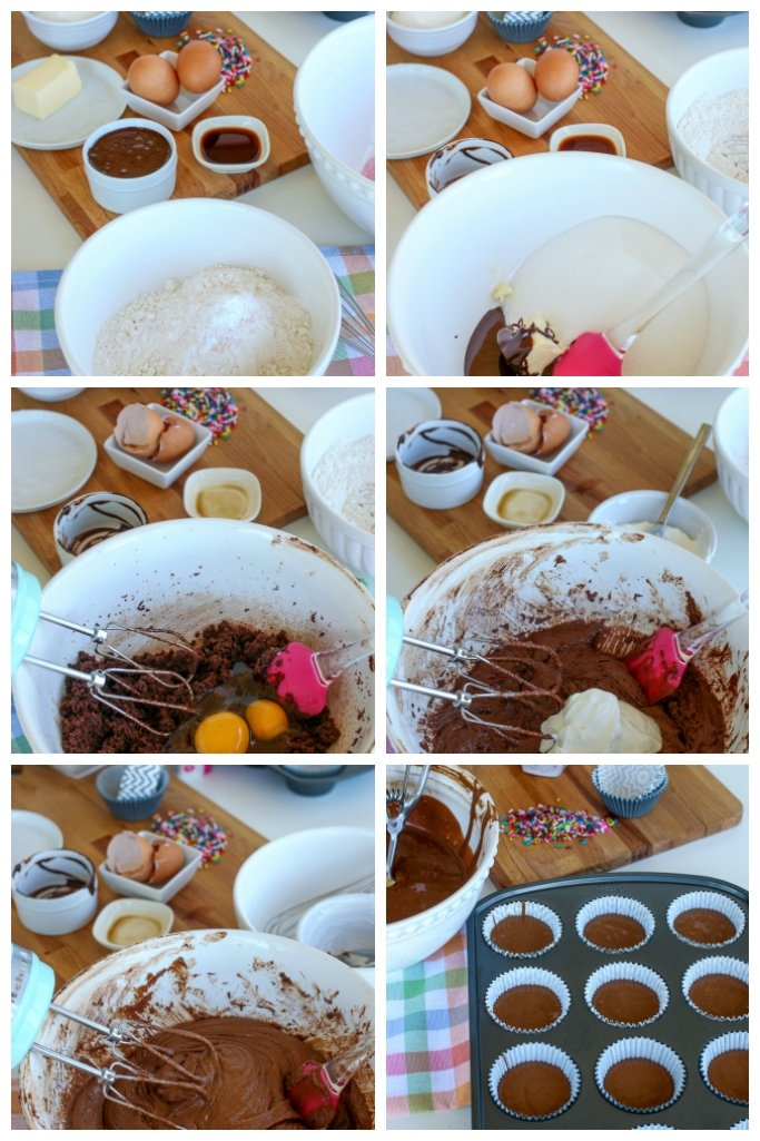 steps for moist chocolate cupcakes recipe