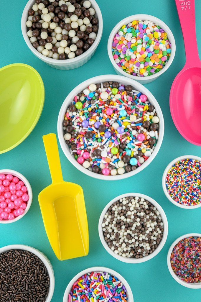 Custom sprinkles and classic sprinkles