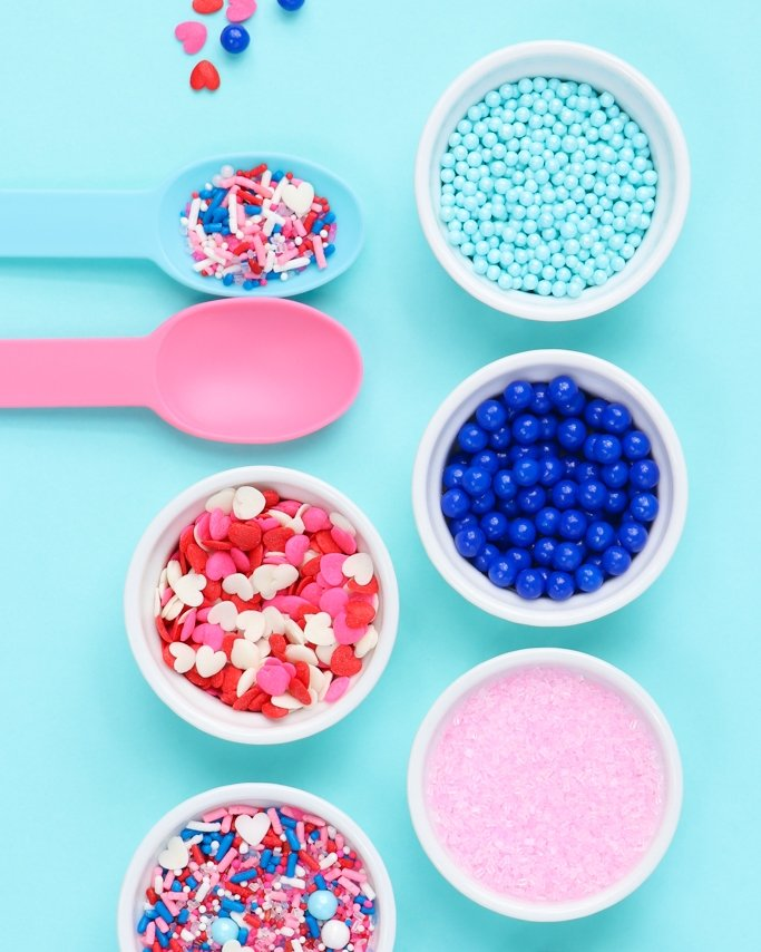 Double Bubble Blue + Pink Valentines Inspiration