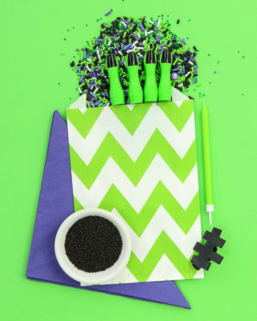 Frankenstein Kids Halloween Party Ideas - Paper Favors
