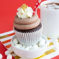 Hot Chocolate Cupcakes Recipe + Cocoa Frosting