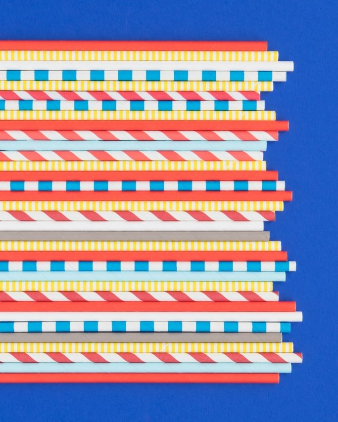 Snow White Party Paper Straws