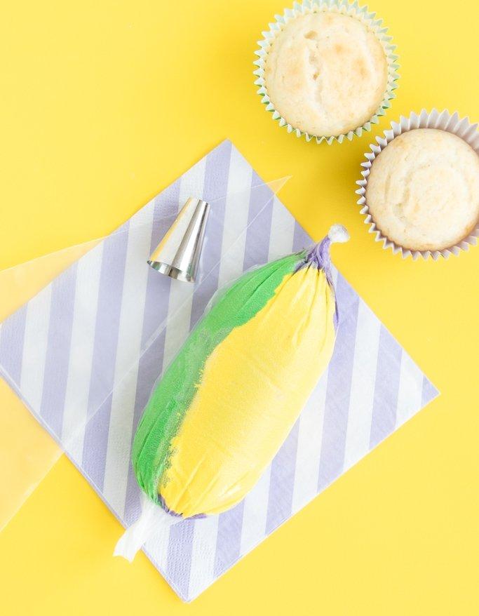 King Cake Cupcakes - Mardi Gras Cupcake Frosting