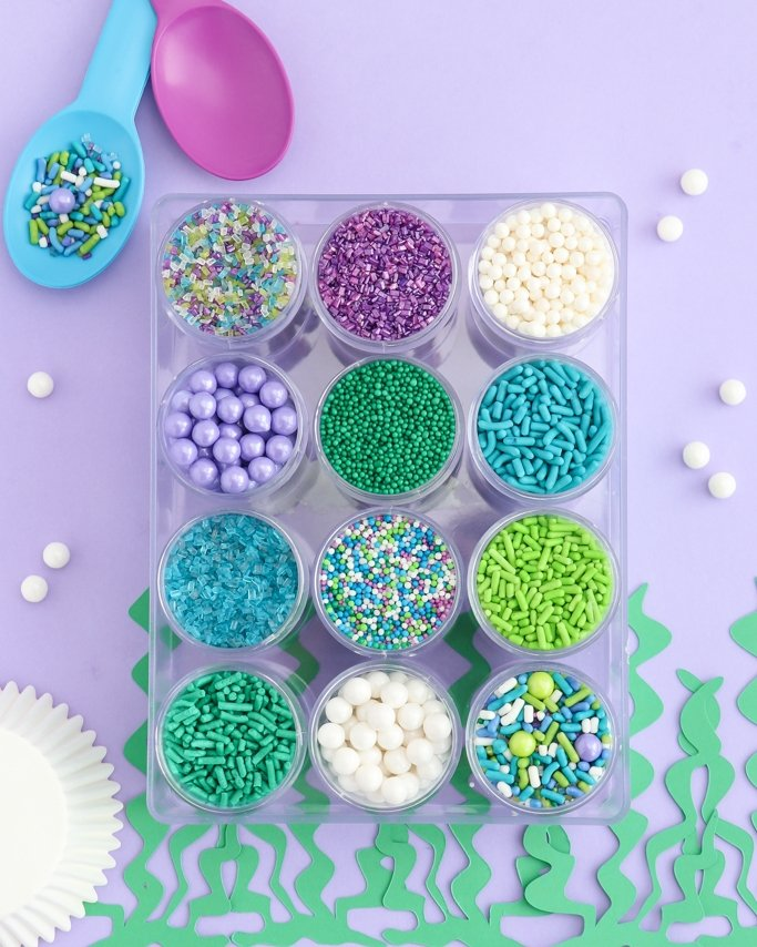 Mermaid sprinkle mix kit.