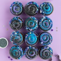 Chocolate Swirl Galaxy Cupcakes Tutorial