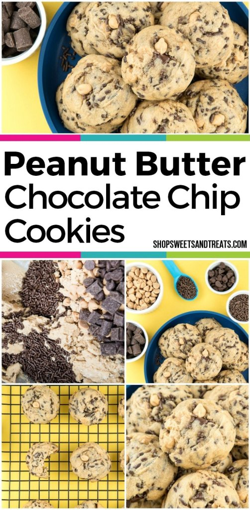 best peanut butter chocolate chip cookies picture collage