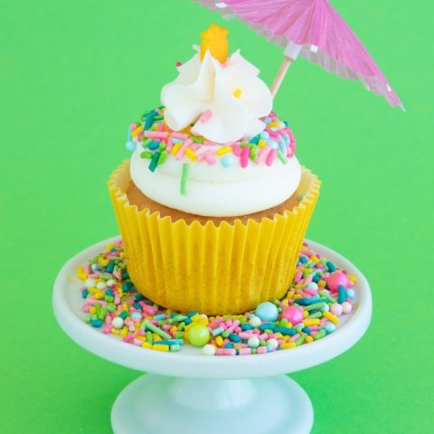 Pina Colada Cupcakes Recipe + Coconut Frosting