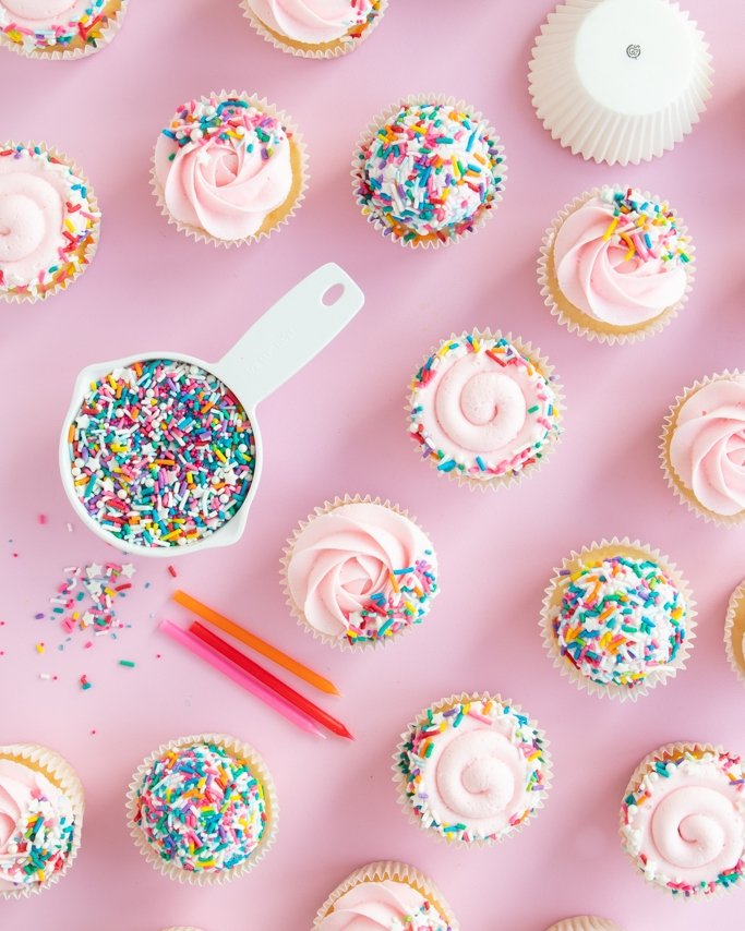 Covering Sprinkle Cupcakes - How Many Sprinkles Do I Need?