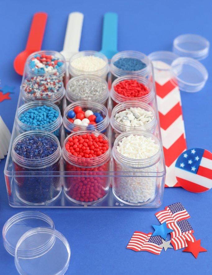 Patriotic Sprinkles - 4th of July Sprinkle Mix Kit