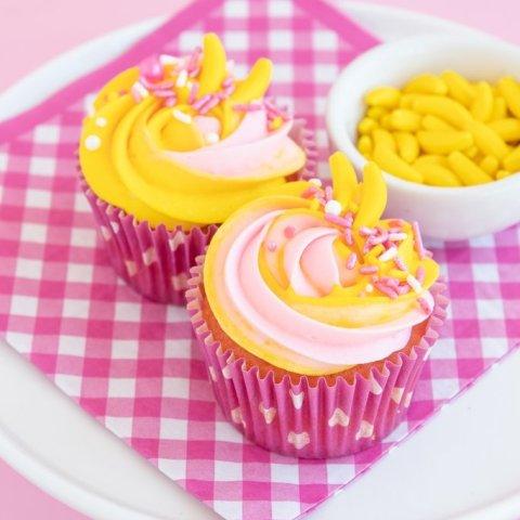 Easy Strawberry Banana Cupcakes