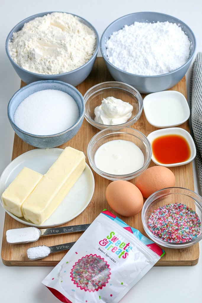 sugar cookie bars recipe ingredients