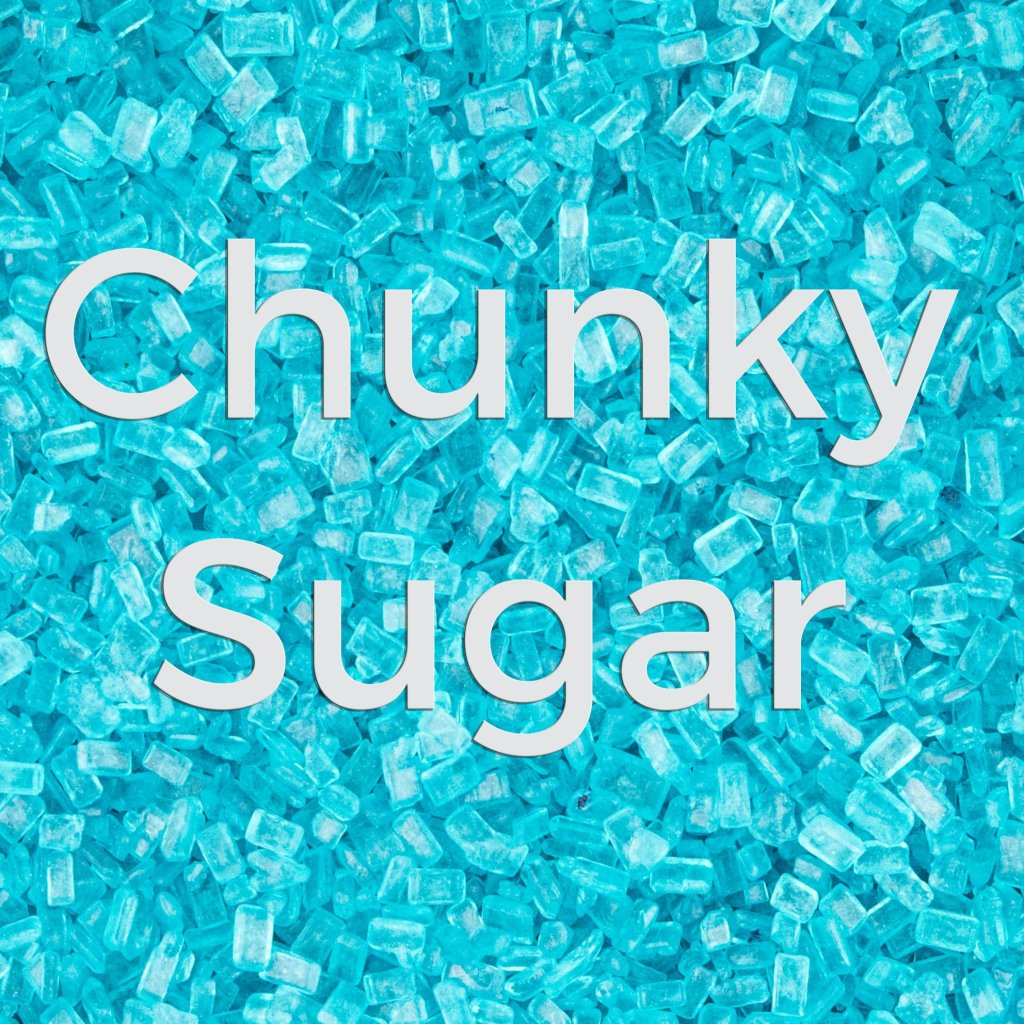 Teal Chunky Sugar crystals photo