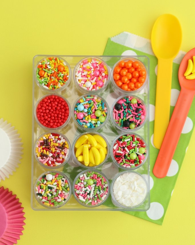 Fruit sprinkle mixes for all of your summer party ideas!