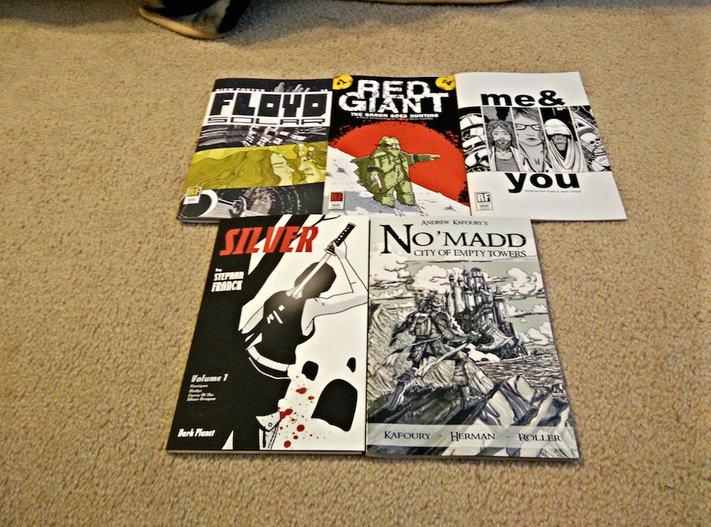 Floyd Solar, Red Giant and  Me & You by Rich Foster. www.rfomics.com Silver by Stephen Franck. www.http://dark-planet-comics.com/silver No'Madd by Andrew Kafoury. www.nomadd.net