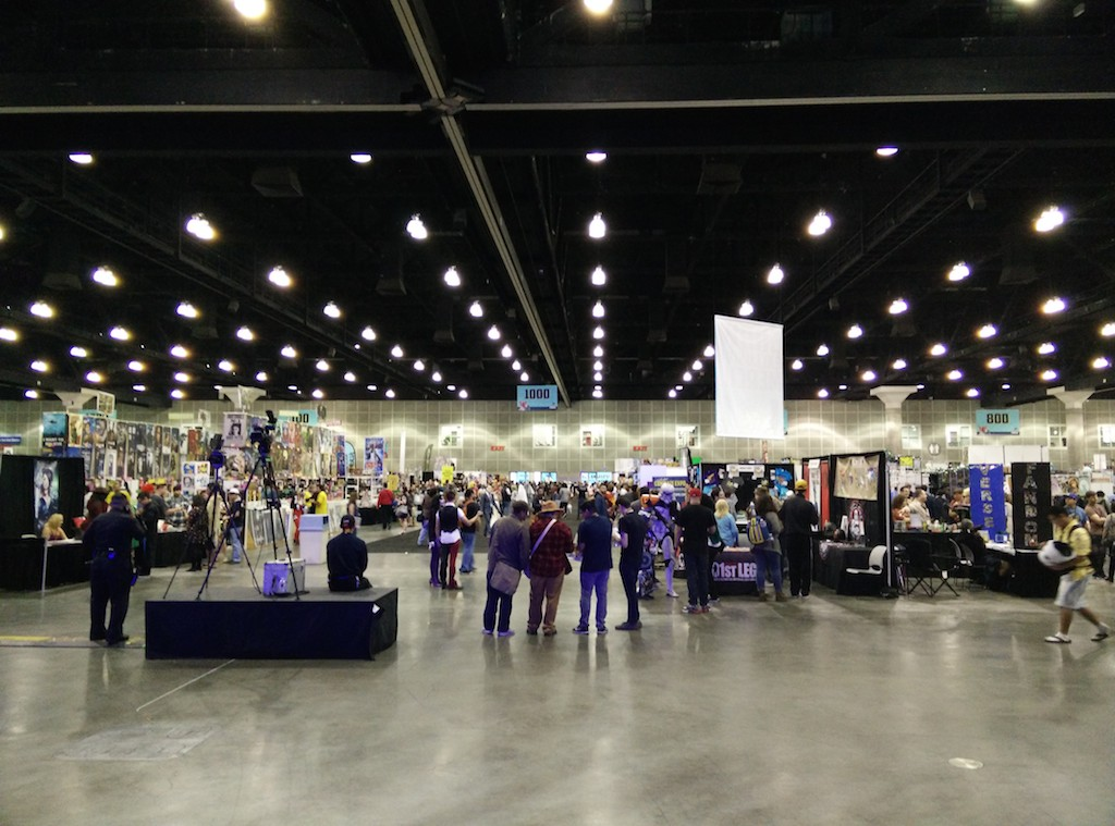 View from the main stage of the expo hall.
