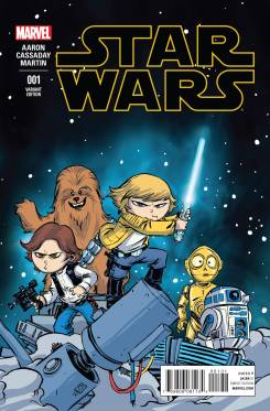 Star Wars #1 Variant cover by Skottie Young