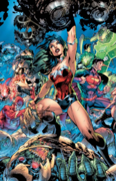 Justice League #3 Cover, art by Jim Lee and Scott Williams