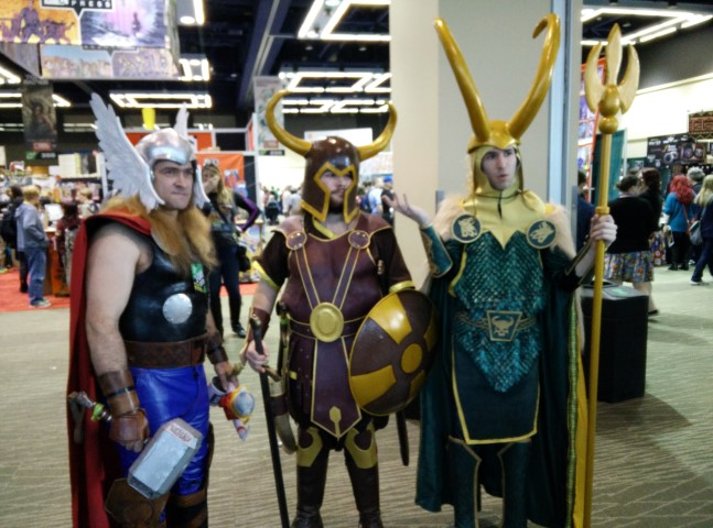 Attendees visiting from Asgard