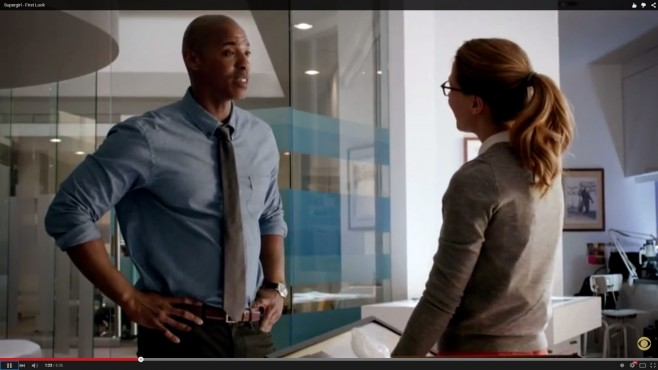 Jimmy Olsen in the new Supergirl TV show.