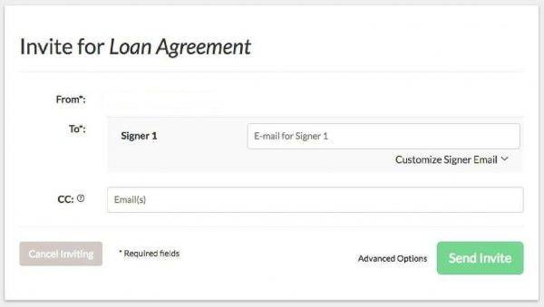 As Soon As Youu0027ve Added Fillable Fields To Your Loan Agreement Template,  Invite Your Clients And Business Partners To Fill It Out And Electronically  Sign It ...  Loan Agreements Templates