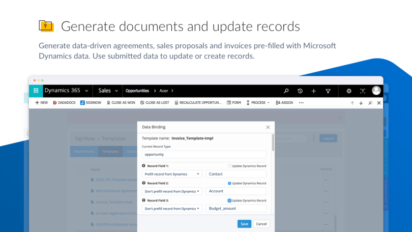 SignNow for Microsoft Dynamics
