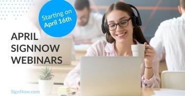 April webinars