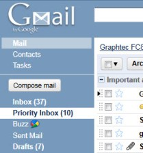Gmail inbox screen shot