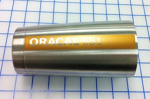 ORACAL 651 Copper Metallic looks refined on stainless steel.