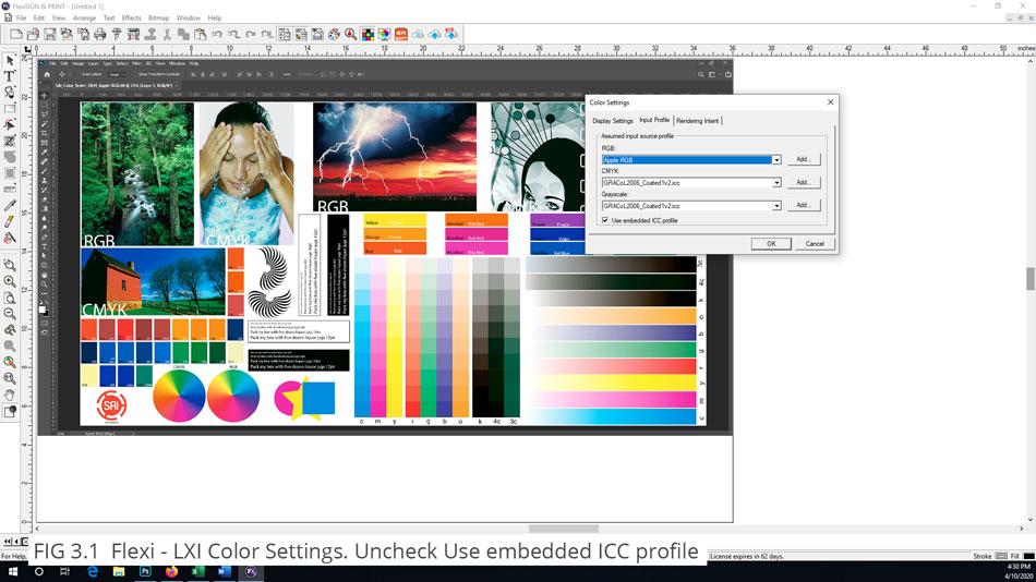FlexiSign Color Settings