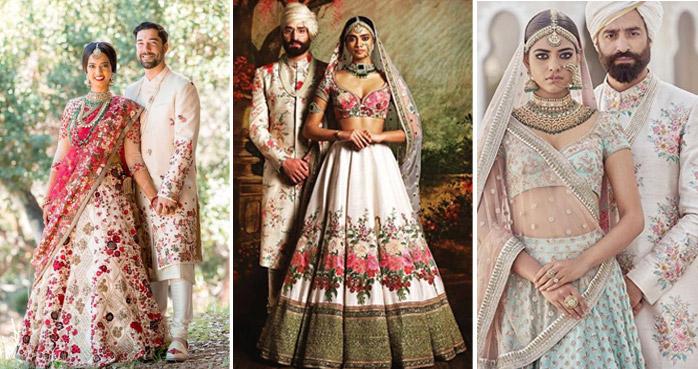Matching-floral-bride-groom
