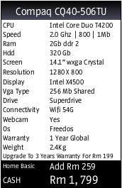 Compaq Laptop with FreeDOS (SE Asian market)